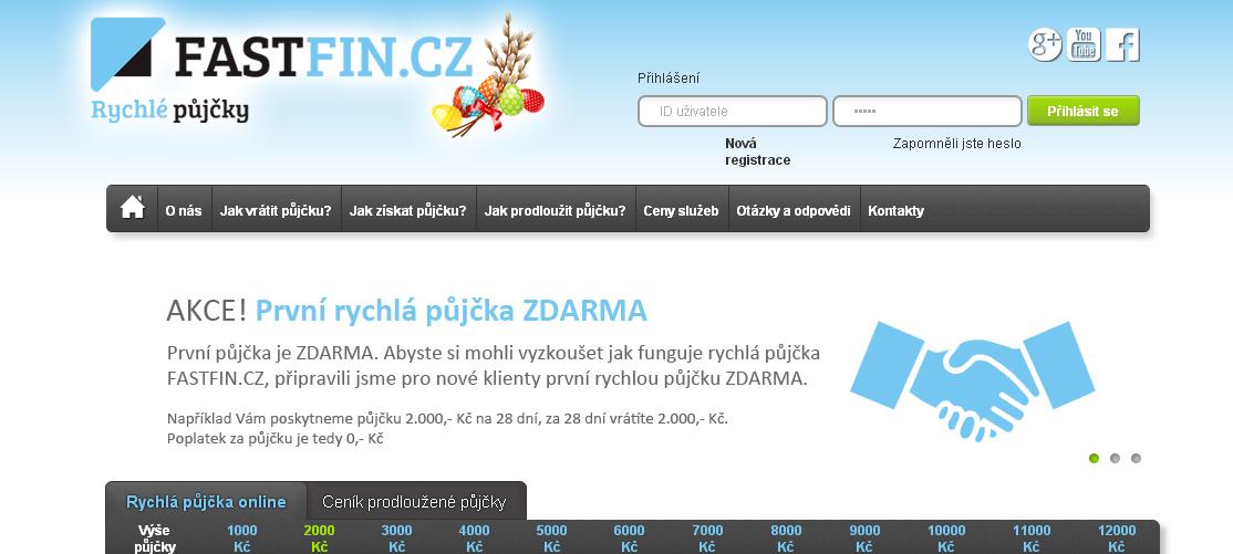 Rychlé půjčky od FASTFIN.cz